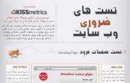 تستهای بهینه سازی سایت ( اینفوگرافی )